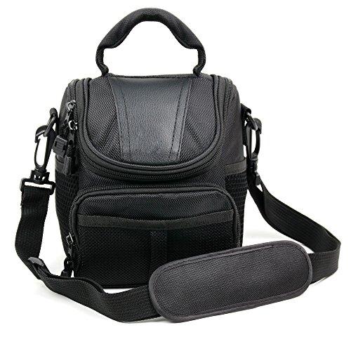 Praktische Tasche (schwarz) mit Tragegriff und Schultergurt - bestens geeignet für den Transport Ihres TomTom Start 50 | 52 | 62 Europe Traffic und Garmin Drive 50 LMT (CE) Navigationssystems