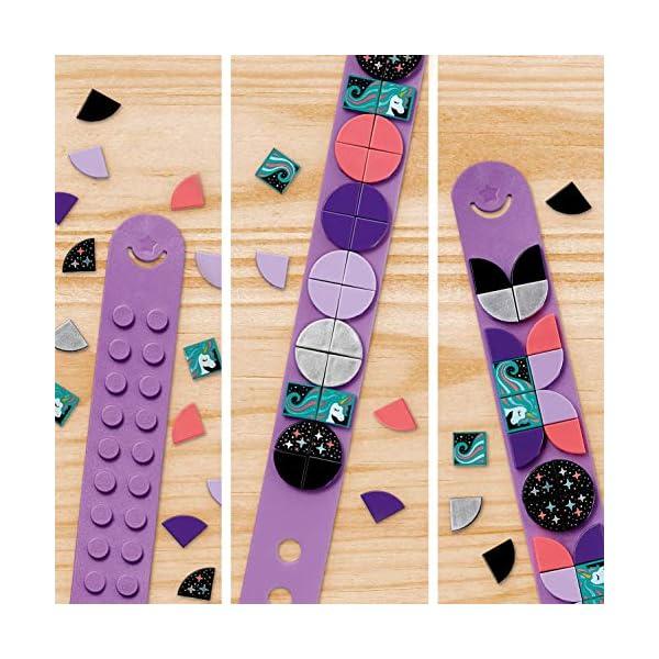 LEGO- Dots Kit Braccialetto, Scintillante con Fascia Regolabile e Decorazioni per Bambine + 6 Anni, con 32 Applicazioni… 4 spesavip
