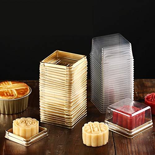 10 sets = 20 stücke Klar Kunststoff Cupcake Verpackung Box Kuchen Dome Bevorzugt Box Container Hochzeit Party Cupcake Boxen Geschenk boxen Liefert