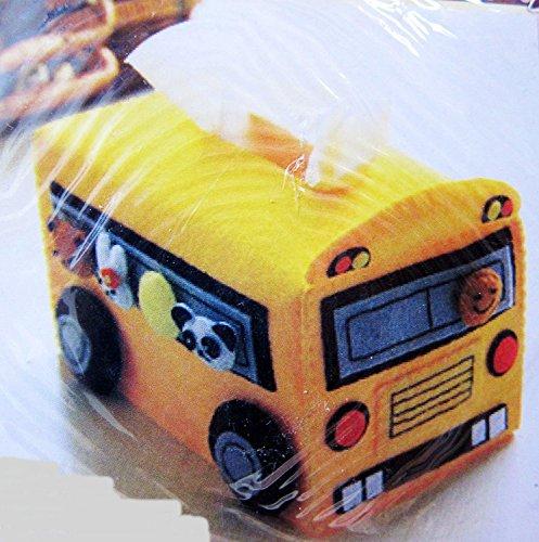 chengyida Schule Bus Taschentuchbox, einfach Nähen Projekt, Nähset, Filz Crafts Kit (ohne Boden) -