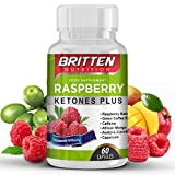 ULTRA Strong Raspberry Ketone | Highest Rated 5 STAR! | FREE DIET PLAN EBOOK WITH EVERY ORDER | For Men & Women | Easy To Swallow Capsules | 100% MONEY BACK GUARANTEE | 1 MONTH SUPPLY by Britten Nutrition