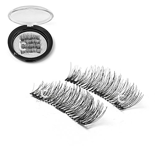 ICYCHEER nouvelle conception 3 Magents 3D cils bande complète fourrure maquillage Extension de cheveux à la main Magnetic Eye Lashes naturel Long Beauty Flase cils (4pc / paire)