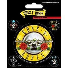 Guns N' Roses - Logo De La Bala, Set De Pegatinas De Vinilo Pegatina Vinilo Autoadhesivo (12 x 10cm)