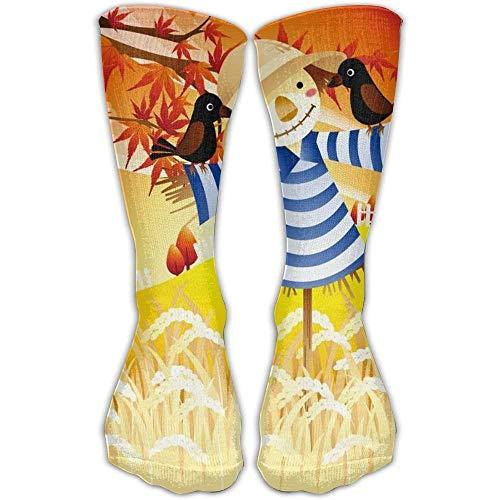 Scarecrow Männer Kostüm - Gped Kniestrümpfe,Socken Autumn Harvest Scarecrow Casual Socks Crew Socks Ankle Socks Athletic Sock One Size Fits All Adult For Travel Sports Length 50CM