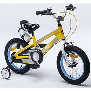 Royalbaby Unisex Youth Space-no1 Girl's Boy's Kids Bike Bicycle, Yellow, 14