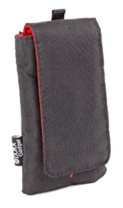 Black Rugged Nylon Mobile Phone Pouch With Belt Loop For Samsung Models Up To 6cm Wide