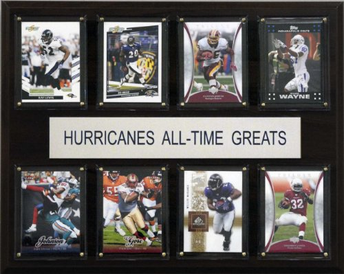 C & I Collectables NCAA Football Miami Hurricanes All-Time Greats Plaque