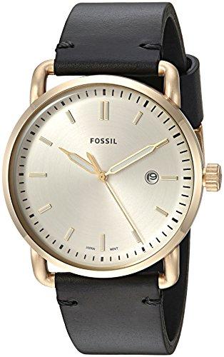 Fossil Herren Analog Quarz Uhr mit Leder Armband FS5387