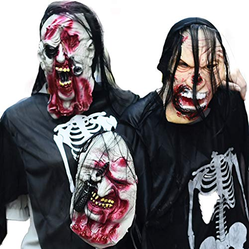 CHUN BO Unheimlich Zombie Latex Maske & Horror Halloween Festival Dressing Prop & 100% Naturlatex Herstellung