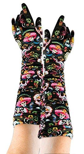 Forum Novelties X74673 Bristol Novelty 74673 Tag der Toten Handschuhe, Mehrfarbig, Einheitsgröße (Großbritannien London Halloween-kostüme)