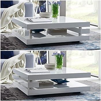 moebella couchtisch wei hochglanz quadratisch piazza. Black Bedroom Furniture Sets. Home Design Ideas
