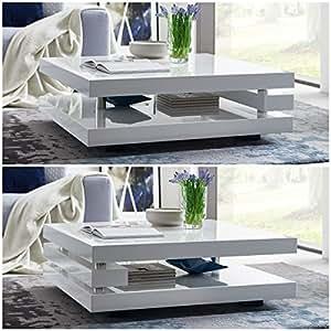couchtisch wei hochglanz quadratisch piazza 100x100cm wohnzimmertisch k che haushalt. Black Bedroom Furniture Sets. Home Design Ideas
