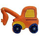 Kinder, die süße Bagger in Truck Orange luxuriöse weiche Kissen gefüllt Kinder Neue