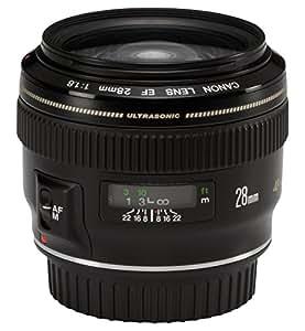 Canon EF 28mm f/1.8 USM Fixed Wideangle Prime Lens for Canon Digital SLR Camera (Black)