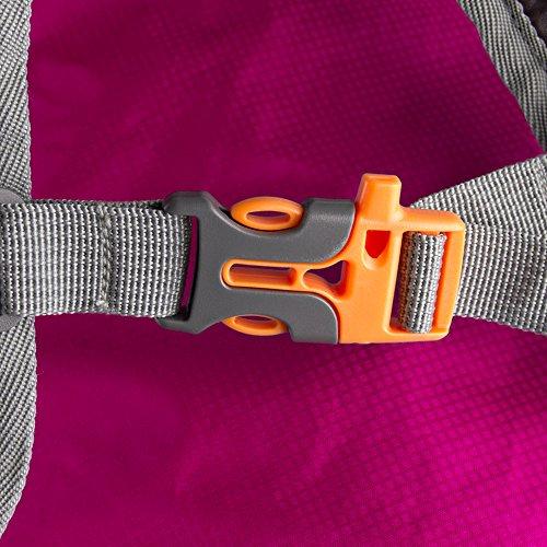 TXJ 35L Faltbare Ultraleicht Wasserdichter Trekkingrucksack Rucksack Damen Herren für Outdoor Sport Reisen Klettern Wandern Radfahren Rose