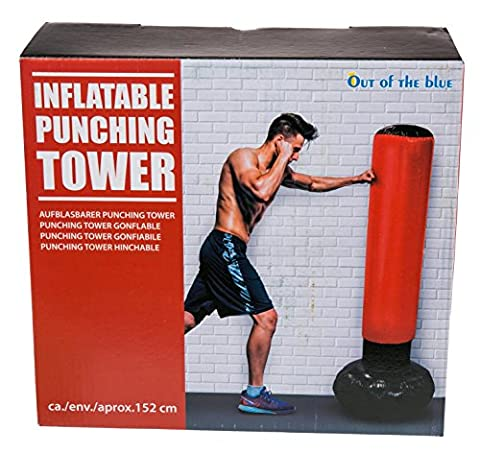 Girls Boys Girl Boy Children Child Kids - Top Selling Bedroom Accessory - Inflatable Blow Up Punching Bag Tower - Perfect for Stocking Fillers Christmas Xmas Birthday Easter Present Gift Fun Toys & Games Age 5+ or Pocket Money Treat or Reward Idea - One Supplied