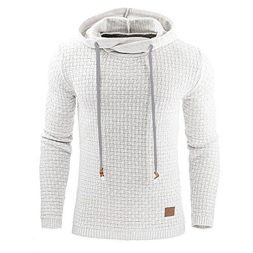 Herren Kapuzenpullover Jumper Pullover - Juleya Hoodie Kapuzenpullover Sweatshirt Jacke Hemd (Männer Stiefel Weiß)