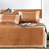 Klimatisierte Matte Sommer-Schlafmatte Coole Rattan-Matratze Eis-Seide-Matte Faltbare 1.5m 1.8m 3-teilige Schüler-Schlafsaal Glatte Matte 1m 1.2m 1.35m (Farbe : Style 2, größe : 1.2m (4 ft) bed)