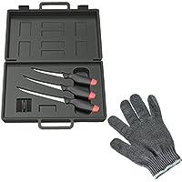 DAM filleting knife set with 3 knifes + Behr filleting glove