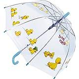 45 cm transparent M/ädchen manuell Regenschirm Minnie Rainbow Kinder-Regenschirm