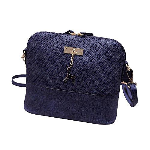 Contever® Messenger Borsa a tracolla del sacchetto di spalla per la Scuola per Youngster / Ragazza Blu