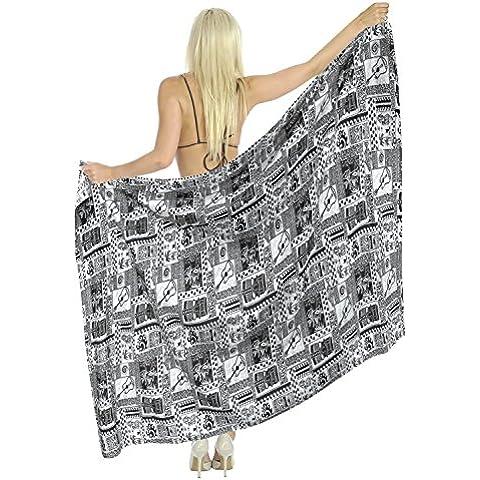 La Leela 100% algodón egipcio antiguo hoja de envoltura sarong pareo 78x39 pulgadas