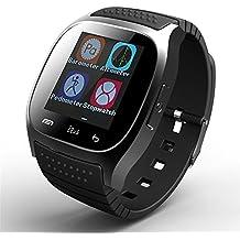 Bluetooth reloj inteligente pantalla táctil reloj de pulsera teléfono con micrófono barómetro altímetro para Android teléfono móvil