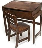 vermessen International 564WN Kindes schräg Top Schreibtisch und Stuhl, walnuss