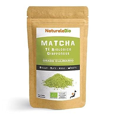 Thé Matcha Bio Japonais de Cuisine [ Qualité Culinaire ] 100 gr | Thé Vert Matcha en Poudre 100% Naturel | Matcha Green Tea Produit au Japon Uji, Kyoto| Pour la Patisseries, Cookies et dans le Lait