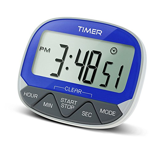 Große LCD-Magnetischer digitaler Timer mit W Halter Küche Timer Kühlschrank-griff-abdeckung Silber