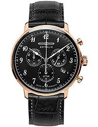 Zeppelin Unisex-Armbanduhr Chronograph Quarz Leder 7084-2