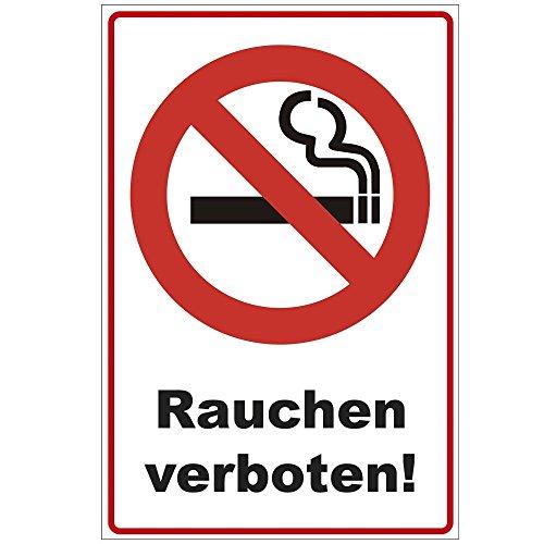 """Schild 300x200 mm \""""Rauchen verboten !\"""", stabil aus PVC Hartschaum Platte - 3 mm stark"""