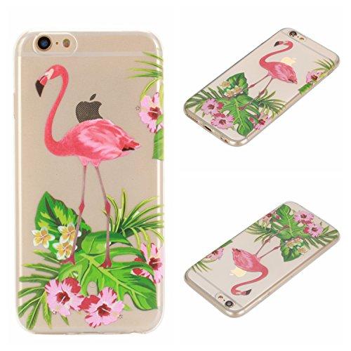 Voguecase® Per Apple iPhone 6/6S 4.7, Custodia Silicone Morbido Flessibile TPU Custodia Case Cover Protettivo Skin Caso (unicorno 02) Con Stilo Penna Red-crowned Crane 05