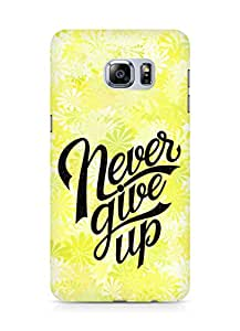 AMEZ never give up Back Cover For Samsung Galaxy S6 Edge Plus