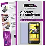 dipos I 2X Schutzfolie klar passend für Nokia Lumia 920 Folie Displayschutzfolie