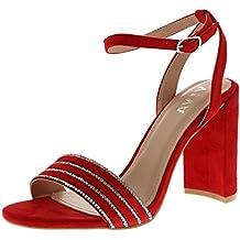Alto Tacco it Amazon Sandalo Rosso POkXlwTiZu