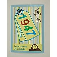5x Fröhliche Einladungskarten Zum 70. Geburtstag *1947*Handmade*