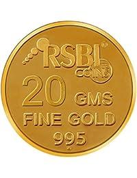 RSBL  20 gm, 24k (995) Yellow Gold Ecoins Precious Coin