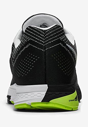 Nike Mens Air Zoom Structure 18 Textile Trainers Noir Blanc