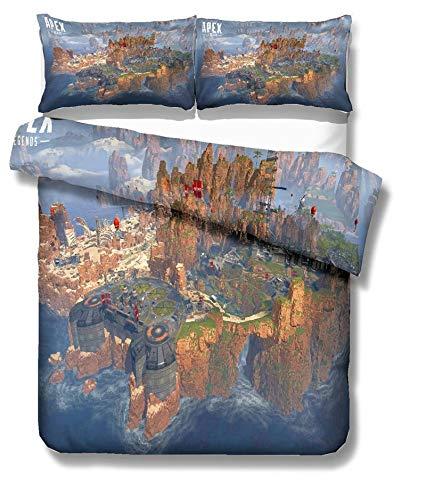 WMWZ APEX Legends Bettwäschesätze Bettbezugbezug Ultraweiche Mikrofaser-Bettbezüge mit leichtem, hypoallergenen Verschluss,F,Queen