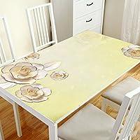 TAO Nappe Tissu Coureurs Table de Table Tissu impression pvc étanche anti-hot-résistant à l'huile en verre souple maison décoration table à manger table basse (Couleur : G, taille : 80*120cm)