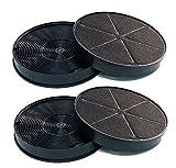 4 Stück Aktivkohlefilter Ersatz für Modell Neff Z5135X1 Kohlefilter Geruchsfilter