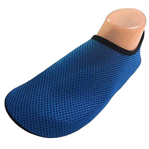 neeiors atmungsaktives Mesh Wasser Schuhe Leicht Schwimmen Schuhe Aqua Schuhe Barfuß Schuhe Blau