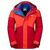 Jack Wolfskin 3 in 1 Jackets B Polar Wolf 3In1 Jkt Ruby Red 128
