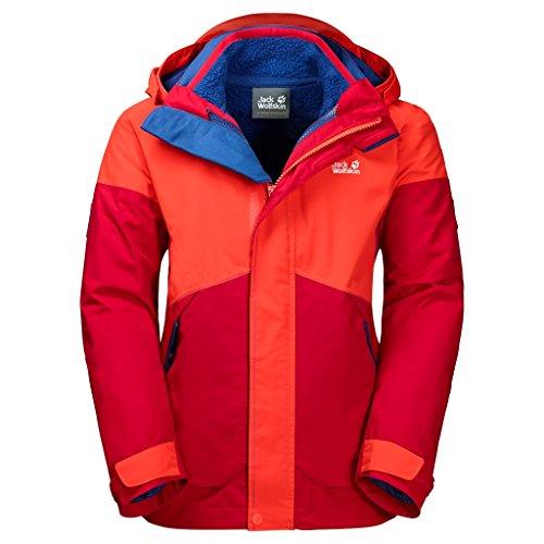 Preisvergleich Produktbild Jack Wolfskin 3 in 1 Jackets B Polar Wolf 3In1 Jkt Ruby Red 116