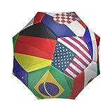 EnnE Nationen Flaggen Regenschirm Regen Regenschirm Faltbar Kompakte Reise Regenschirm Einfaches Tragen
