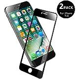 V VONTOX 3D Panzerglas Kompatibel mit iPhone 7/8 [2 Stück], Perfekt Full Screen Schutzfolie (Schwarz) für iPhone 7/8- Vollglas Das komplette 9H Härte,Anti-Öl,Blasenfrei 3D Touch,4.7 Inch