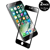 V VONTOX Protector de Pantalla Compatible con iPhone 7 /iPhone8, 3D Pantalla Completa Cristal Templado Pantalla Protectora,Cubre la Pantalla Completa Perfectamente para iPhone 7/8 Negro