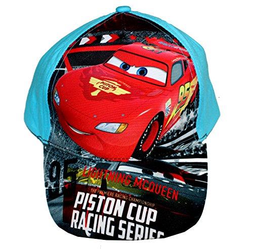Disney Pixar Cars Jungen Cap Kappe Schirmmütze Baseballcap (54, Hellblau)