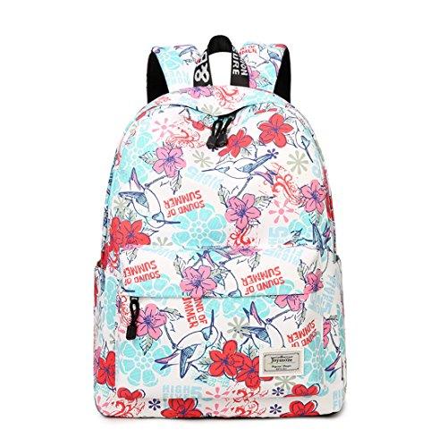 Imagen de joymoze cartera escolar para niñas impermeable  linda  para el instituto   de diario para mujeres flor 843